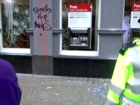 London protest -26/3/2011 - HSBC Bank