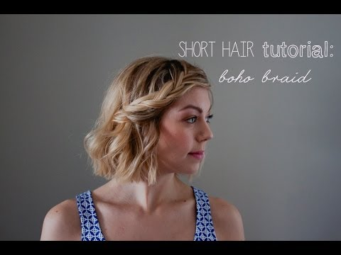Short Hair Tutorial Boho Braids Youtube