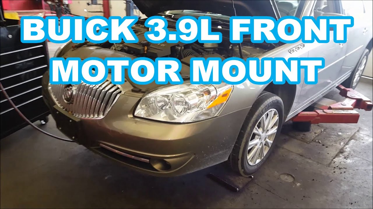 2009-2011 buick lucerne 3 9l motor mount replacement 2009 engine how to  replace front engine