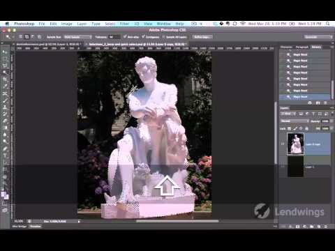 28  Прямолинейное лассо. Видеокурс Photoshop для начинающих.