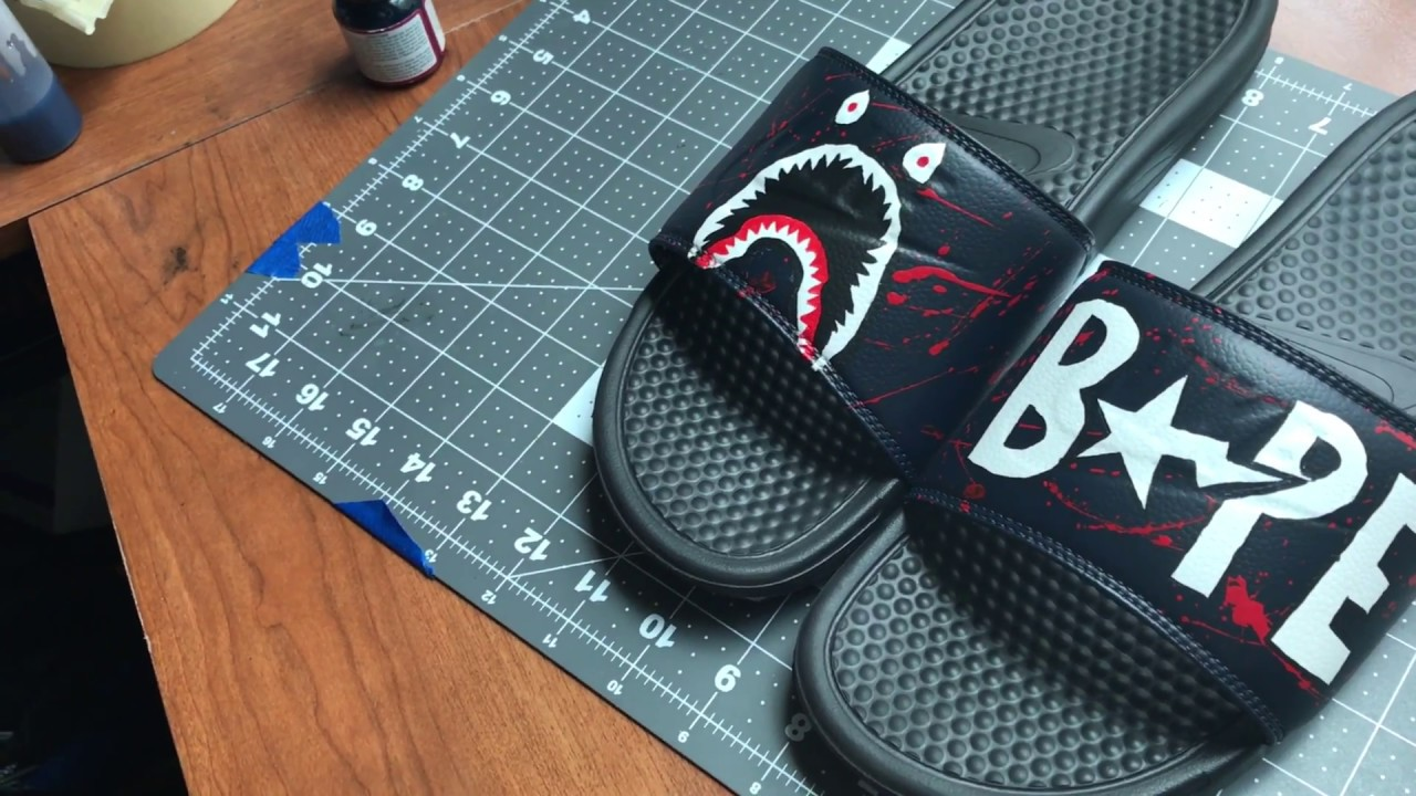 88d7c95e72dce4 Custom Bape Slides - YouTube
