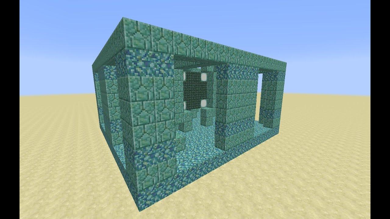 Minecraft Ocean Monument, Part 11: Draining the treasure room