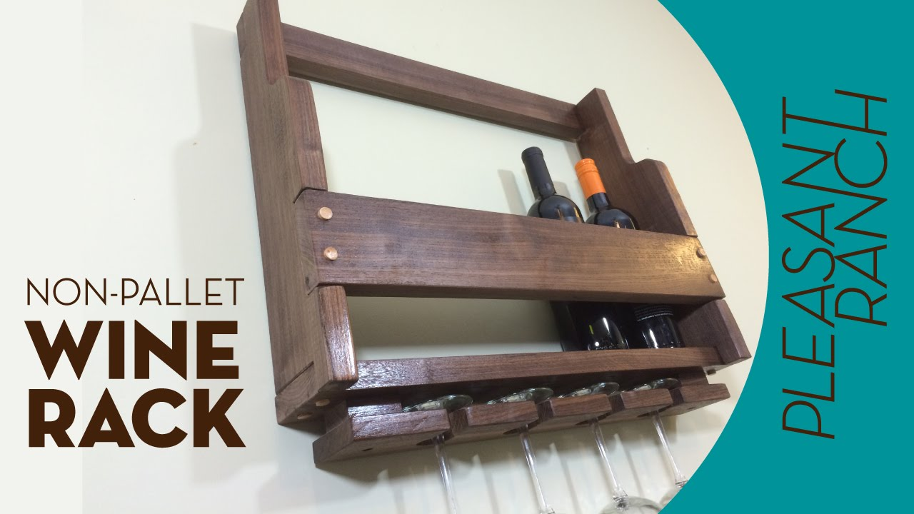 Non-Pallet Wood Wine Rack - YouTube