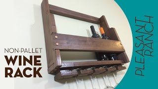 Non-pallet Wood Wine Rack