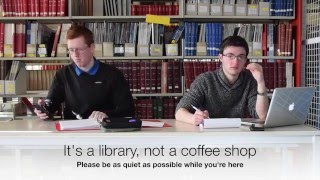 LIB10010: Intro to Library etiquette