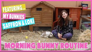 MEET MY BUNNIES - My Morning Bunny Routine | SAFFRON, LOKI | Lop eared rabbits | JorjaBriteny Ep17