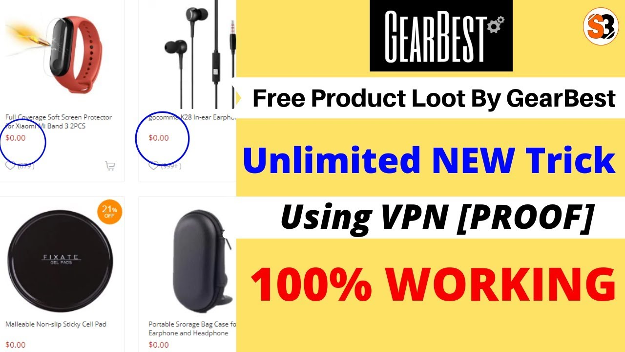 [ PROOF ] GearBest 2019 Unlimited NEW Trick using VPN | GearBest Free product Loot