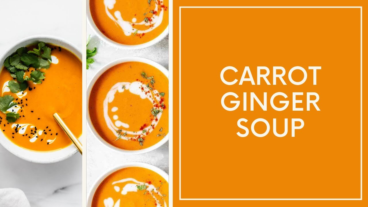 carrot ginger soup || healthy soup || quarantine special recipe || immunity increasing soup