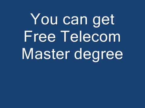 Free Master Degree In Telecommunication, Nothing To Pay