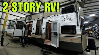 2 Story Travel Trailer RV! This thing is amazing! Salem Destination Trailer! Video
