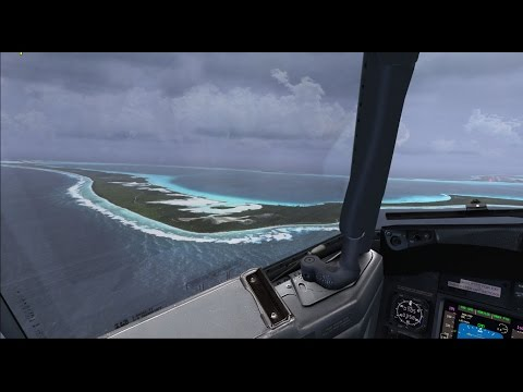 FSX PMDG 737 800 Tabing Airport (WIMG) to Diego Garcia Airport (FJDG)