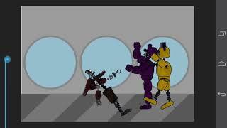 Анимация по рисуем мультфильмы 2 игноид голден Фредди и игноид Фокси против тень Фредди