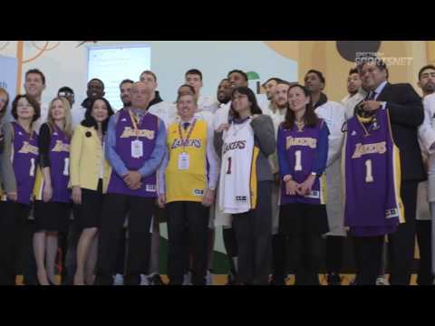 Lakers Visits Ronald Reagan UCLA Medical Center  UCLA Health