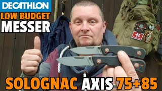 ✔ DECATHLON LOW BUDGET MESSER: Solognac Axis 85 + 75 Axis Knife ☆ 1st Impressions