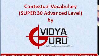 Classes on English Vocab for Bank PO, IBPS Clerk, RRB, LIC, DSSSB & Competitive Exams