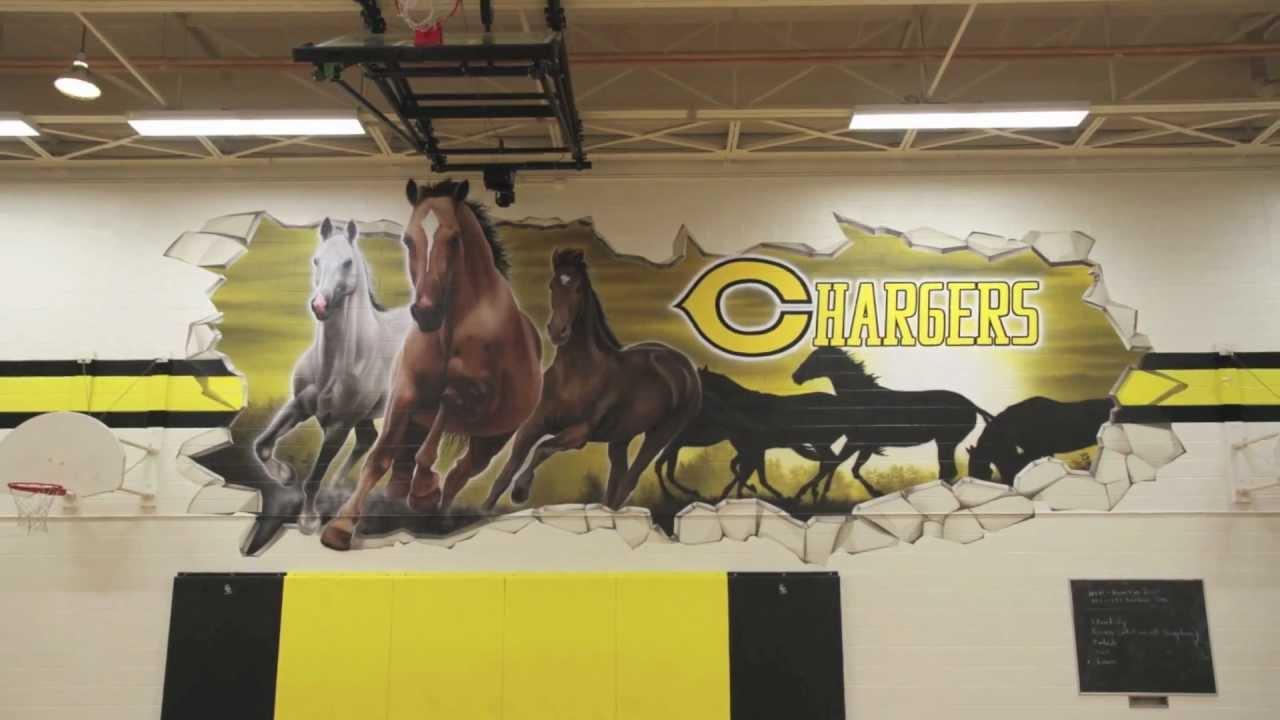 Clarkson Secondary School Gymnasium Murals Youtube