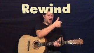 Rewind (Poets of the Fall) Easy Guitar Lesson Strum Fingerstyle Licks TAB