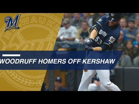 Pitcher Woodruff hits key homer off Kershaw in Game 1