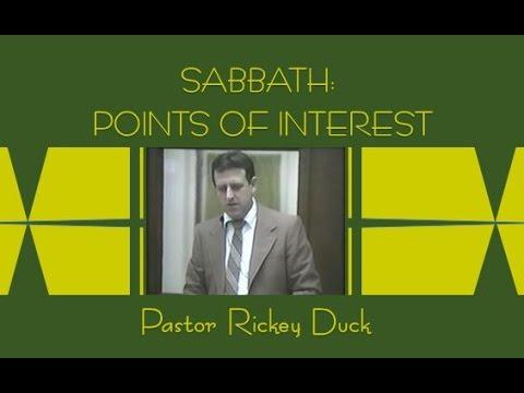 """26 - 2015 """"SABBATH:  POINTS OF INTEREST 1"""" Video"""