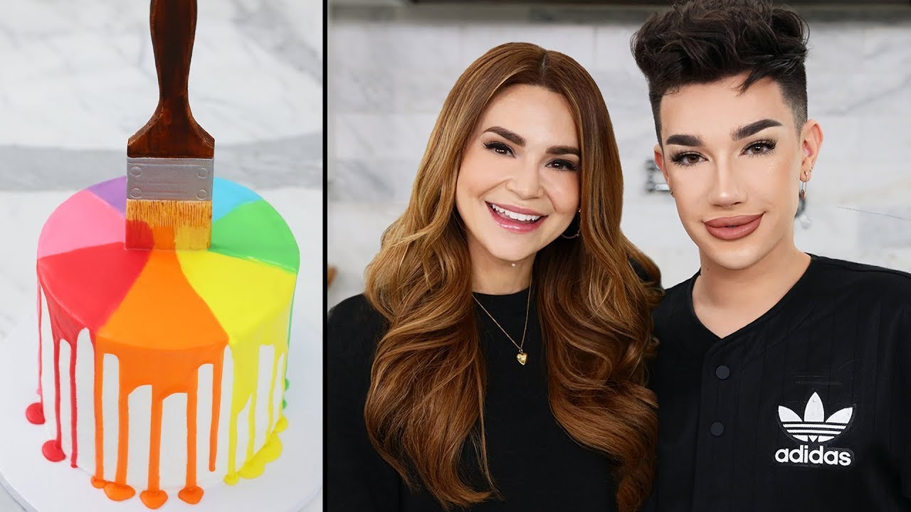 Making A Paint Drip Cake W James Charles Youtube
