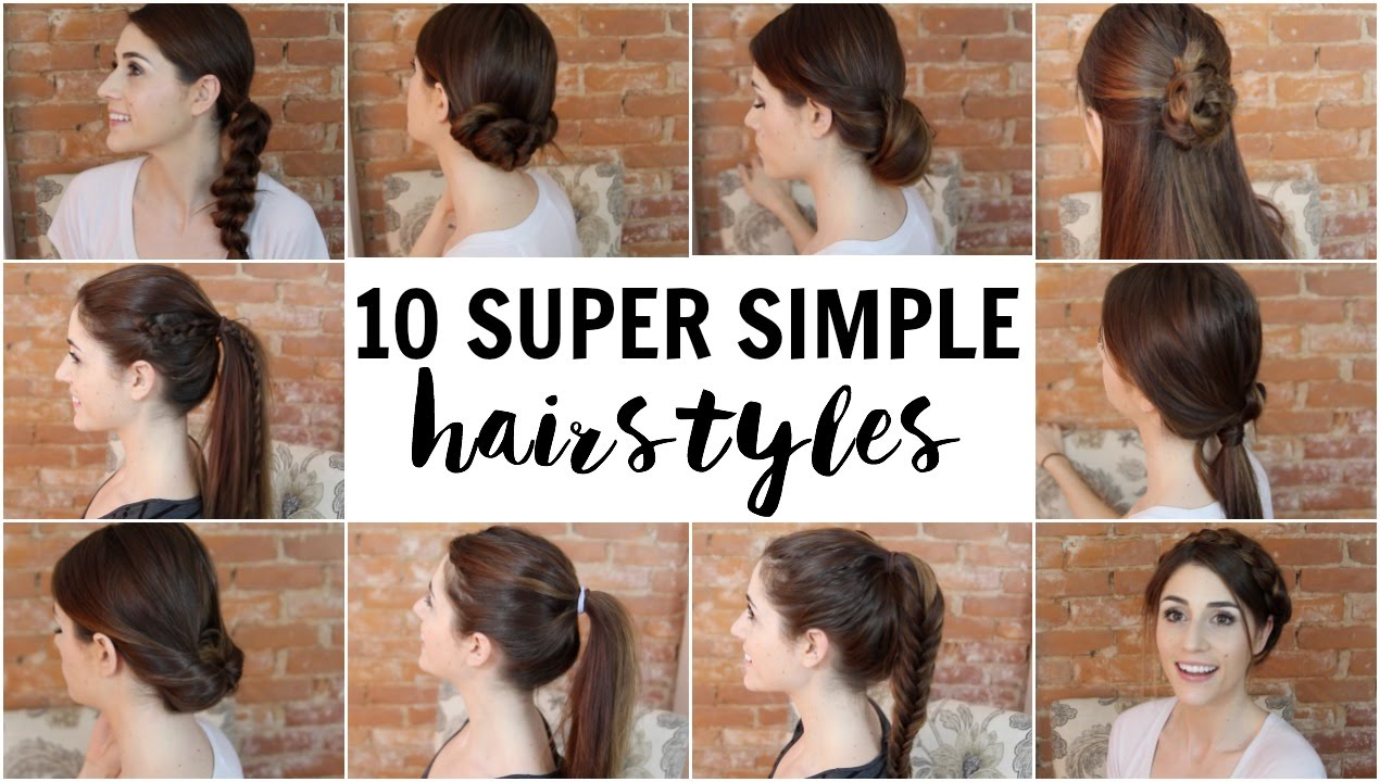 5 Simple Hairstyles Anyone Can Do