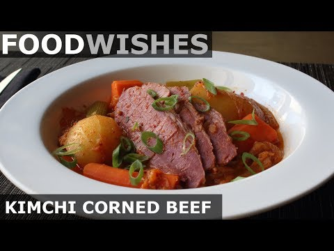 Kimchi Corned Beef - Food Wishes - St. Patrick's Day Recipe