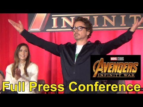 Marvel Avengers: Infinity War FULL Press Conference w/ Cast, Director, Producer & Jeff Goldblum Host