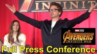Avengers: Infinity War FULL Press Conference w/Cast & Filmmakers: Chris Hemsworth, Kevin Feige ++