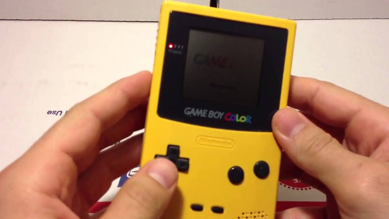 Gameboy color and pokemon yellow - Gameboy Color And Pokemon Yellow 4