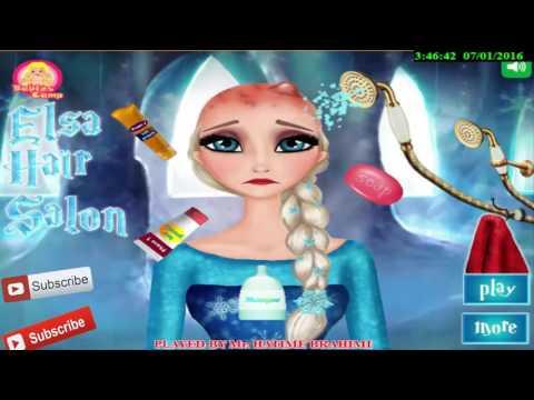 Disney princesses with Dora Elsa Anna Rapunzel Barbie Doctor Hair Problems Game online 201