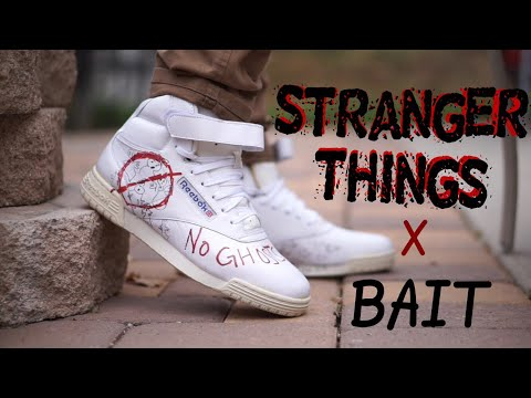 Reebok x Stranger Things x Bait Ghostbusters Ex-O-Fit Vintage Hi on feet