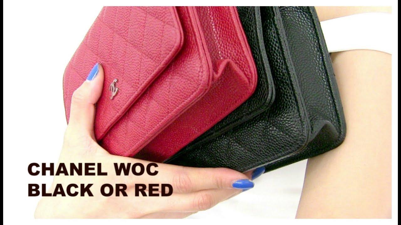 f1429b25e9fa2f Chanel WOC- Black or Red??? - YouTube