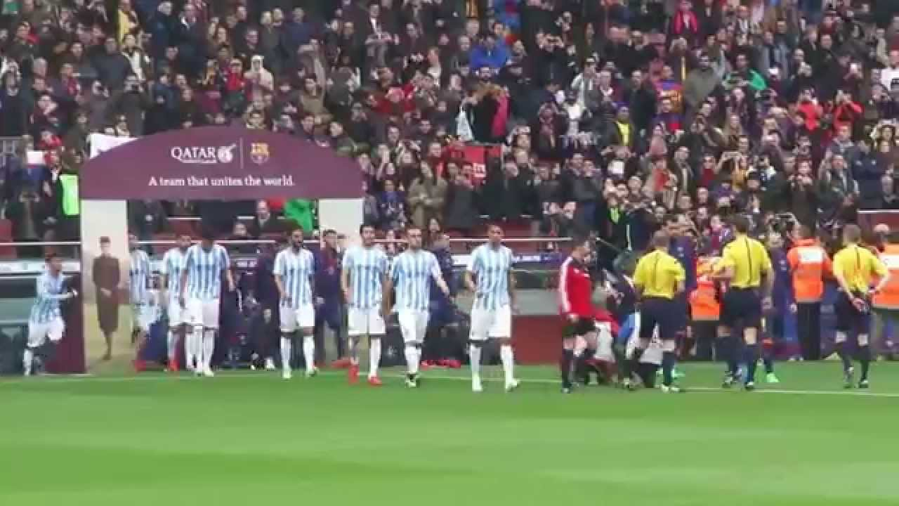 FC BARCELONA-MALAGA 0-1 21/02/2015 (Messi Neymar Suarez Iniesta)