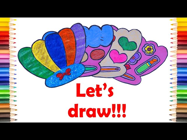 Draw 4 PEARL MAKEUP SET - Draw and Coloring One By One