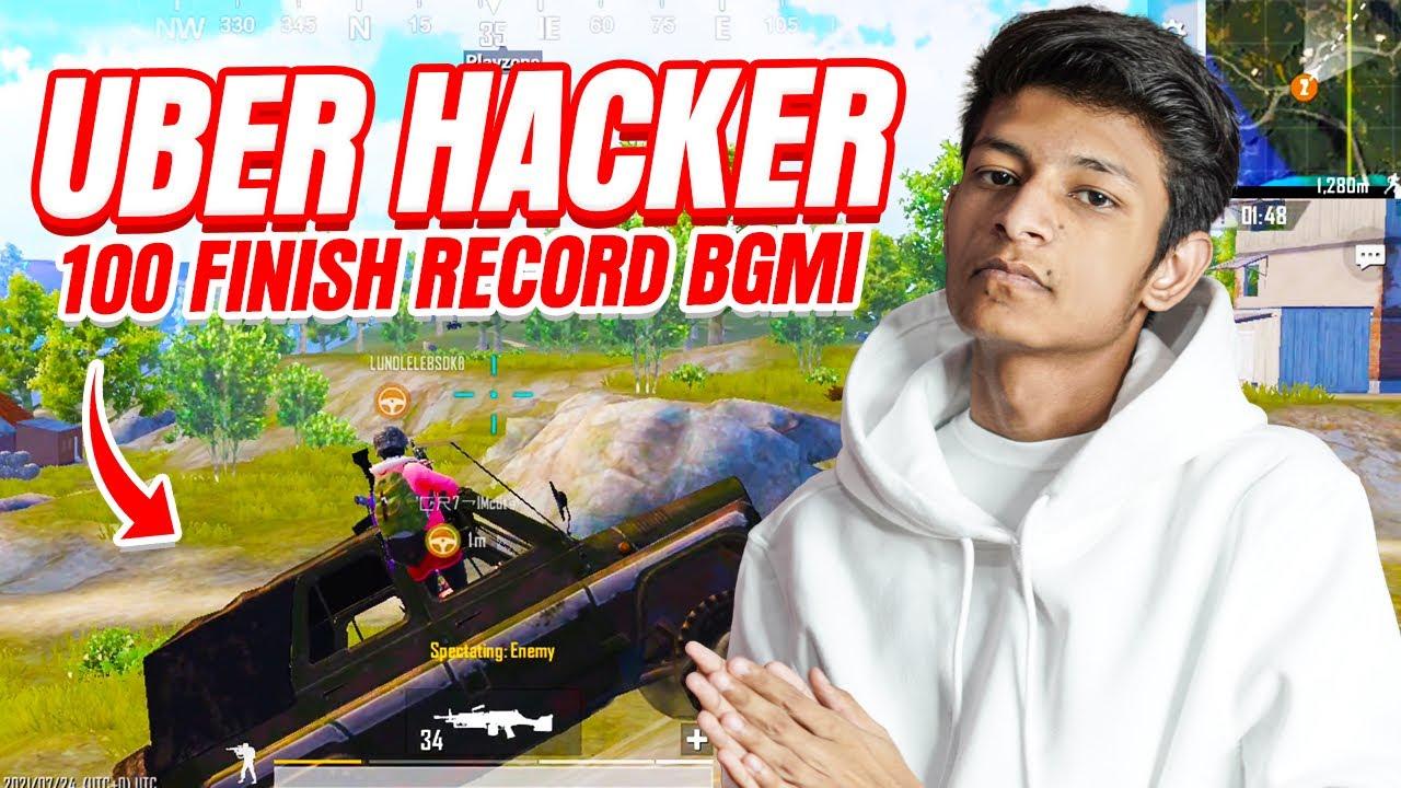 😤 POWER Full UBER Hacker Kill Everyone With Car - Conqueror Unique Hacker BGMI - Legend X