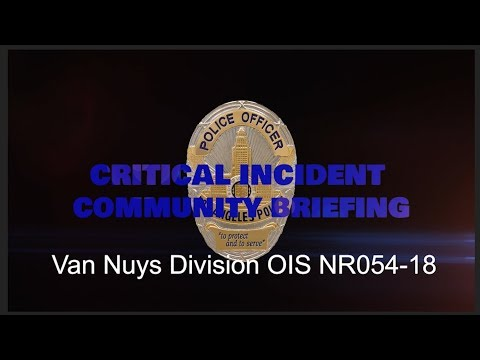 Critical Incident Video Release F054 18 VNYS OIS