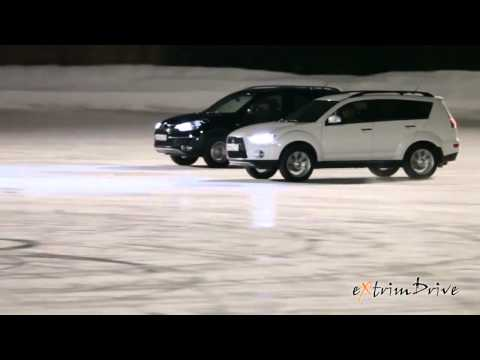 TV Ad of 2 cars and owners dancing on ice
