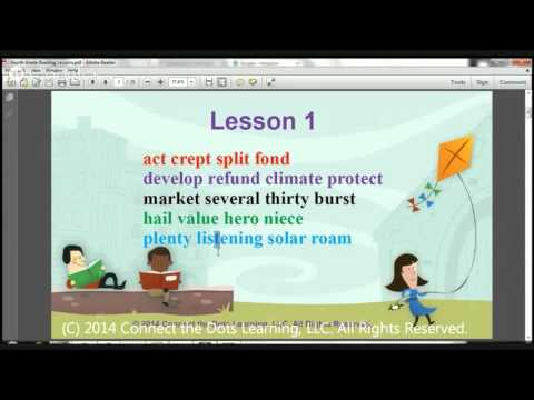 Fourth Grade Reading Lesson 1