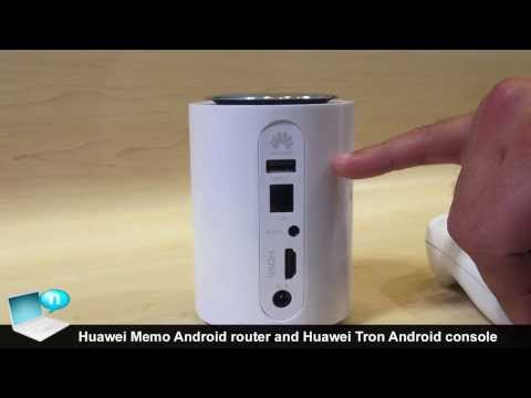 Huawei Tron (Android console) and Huawei Memo (Android router)