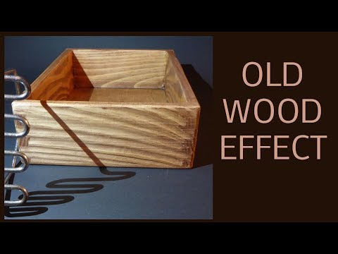 Old wood  effect without brushing DIY