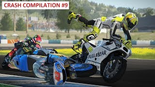 MotoGP 17 | Crash Compilation #9 | PC GAMEPLAY | TV REPLAY MotoGP game