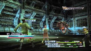 Final Fantasy XIII - Mission 24 - Stage 7 primary roles, no upgrades, no shrouds