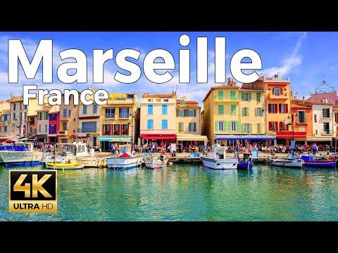 Marseille, France Walking Tour (4k Ultra HD 60fps)