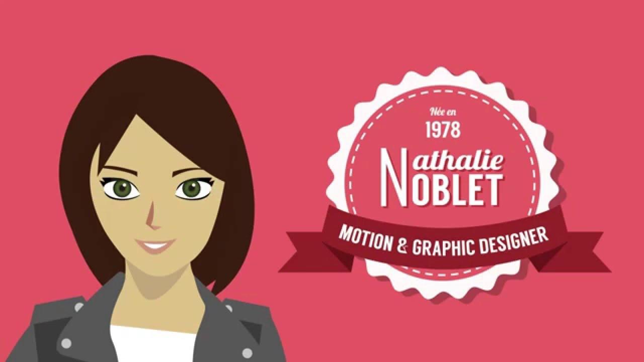 cv motion design - nathalie noblet