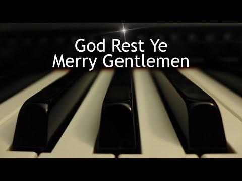 God Rest Ye Merry Gentlemen - Christmas piano instrumental with lyrics
