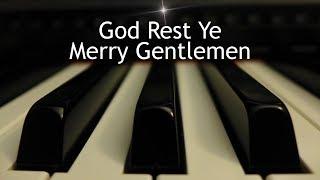 God Rest Ye Merry Gentlemen Christmas Piano Instrumental With Lyrics