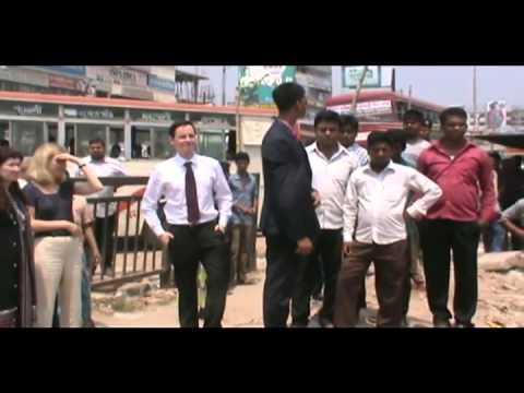 Savar Rana plaza britiss Minister Footage  02 04 14