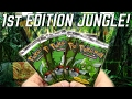 OPENING 1ST EDITION JUNGLE PACKS OF POKEMON CARDS!!