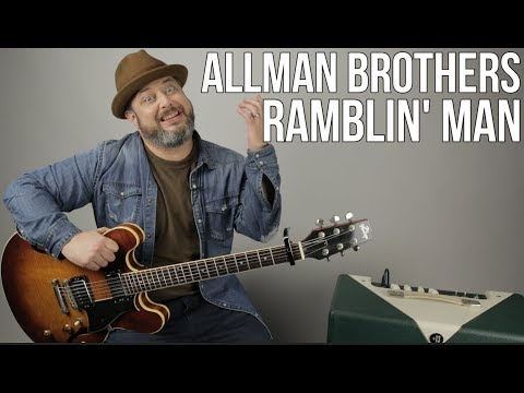 Allman Brothers - Ramblin' Man - Guitar Lesson