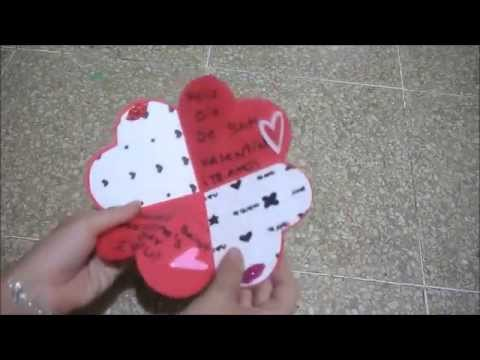 Diy tarjeta coraz n para san valent n yami youtube - Corazones de san valentin ...